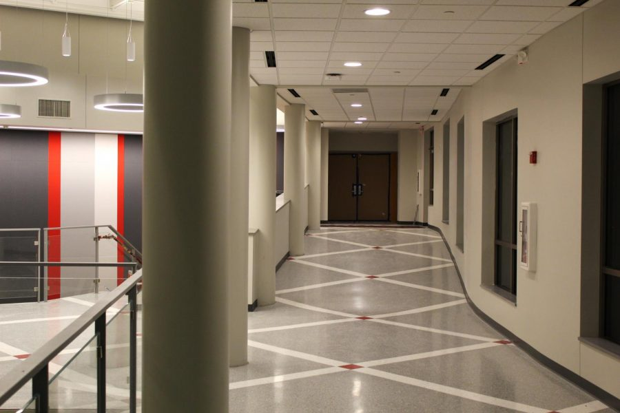 The new hallway connects the library to the theater.
