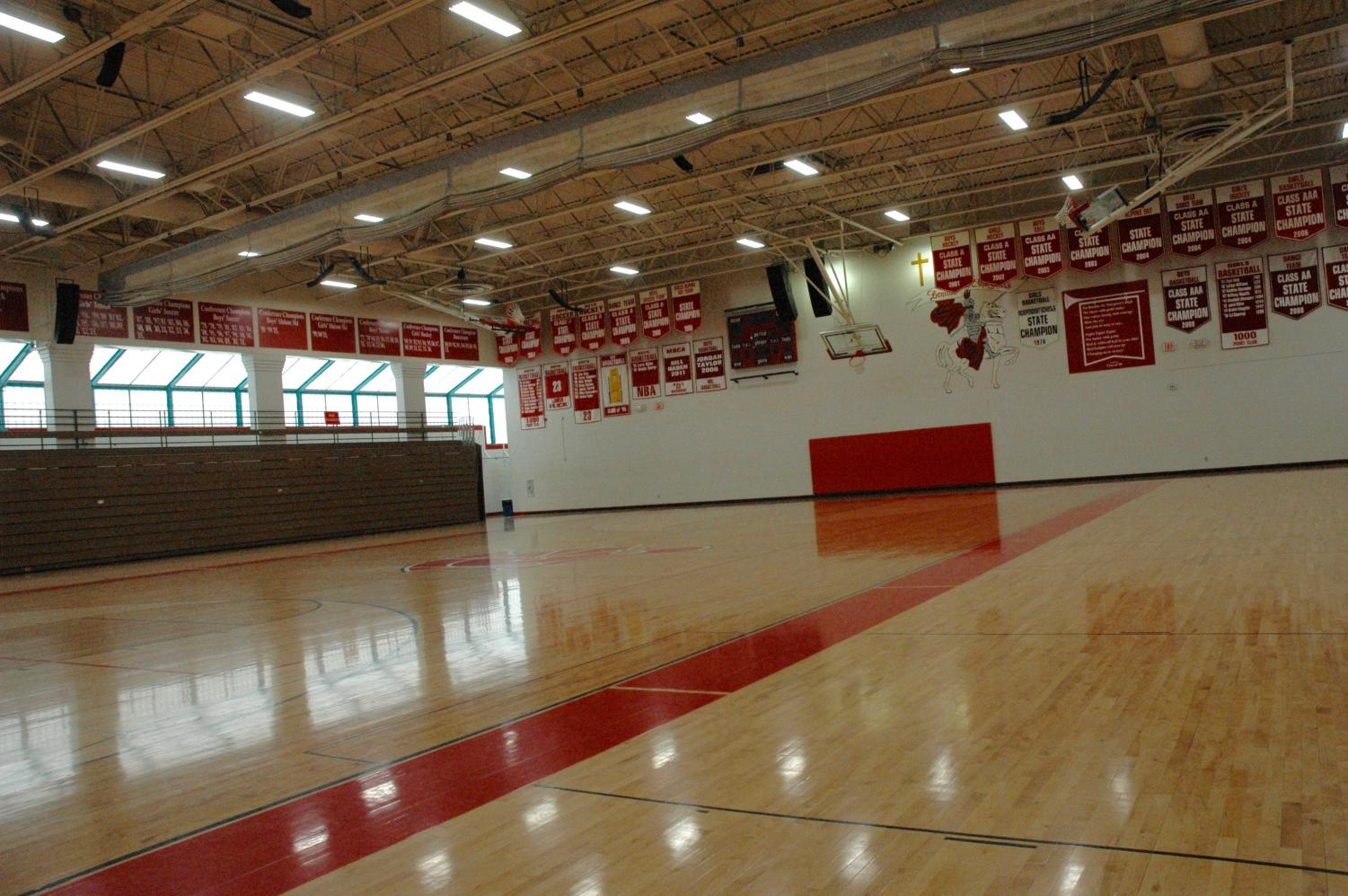 The Haben Center was pretty empty this week as not enough teams showed up to actually have games take place.