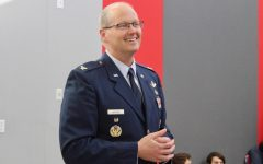 Colonel Whitney spoke to students about the Air Force