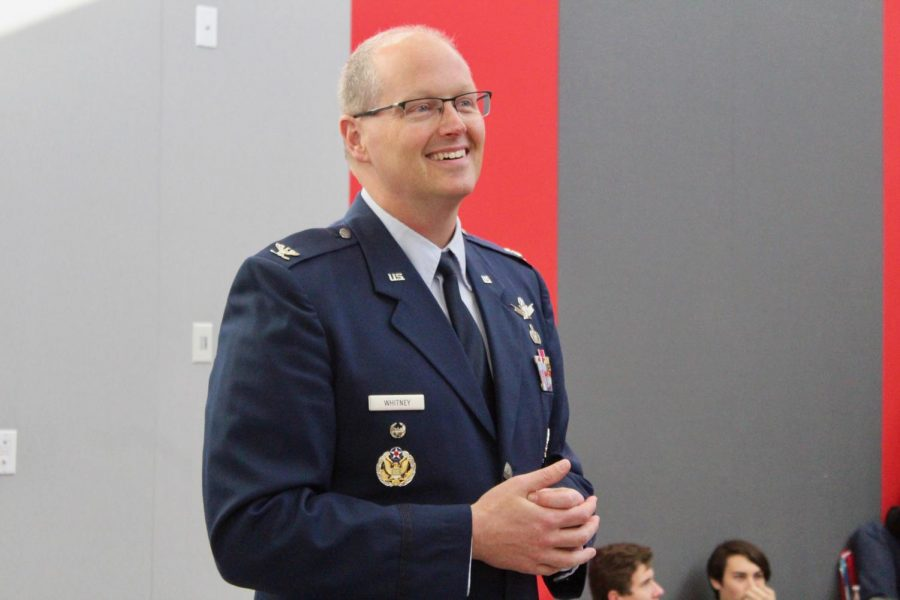 BSM alum Col. Whitney came to talk to students about the Air Force.