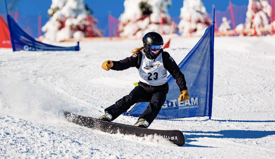 Sophomores compete in national snowboarding event