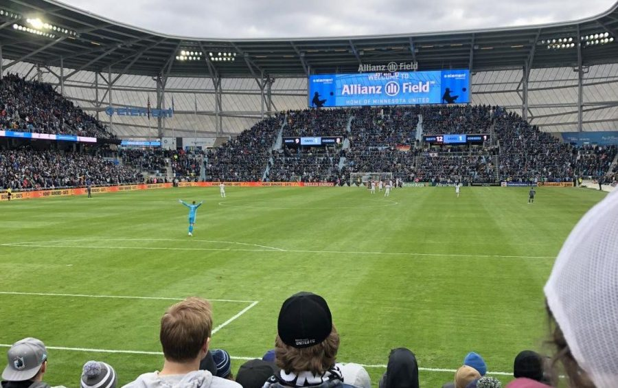 The sleek and packed together design of Allianz Field makes soccer fans feel as if they are watching the soccer game in Germany, not America.