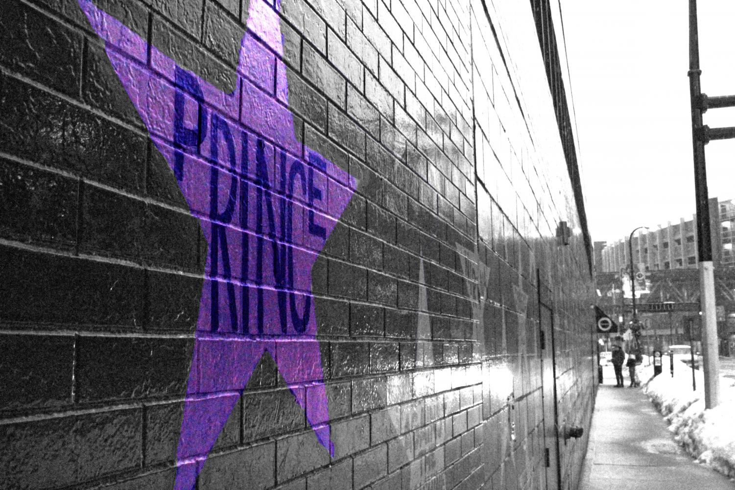 Prince's star stands out on the wall of First Avenue. Many musicians of the past have made their mark on the Minneapolis music scene.