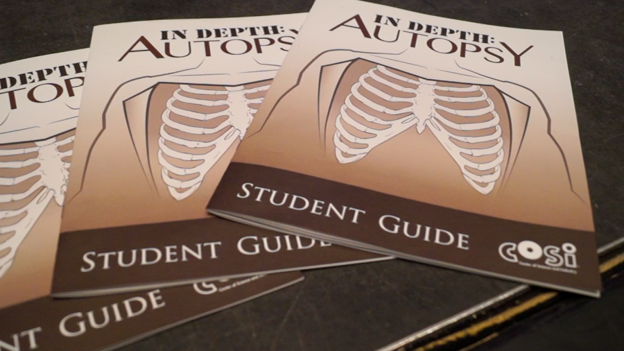 In order to remain connected throughout the autopsy presentation, student received a guide to help them follow along.