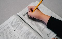 Throughout high school, students prepare for the ACT test in a variety of ways, including taking practice tests.