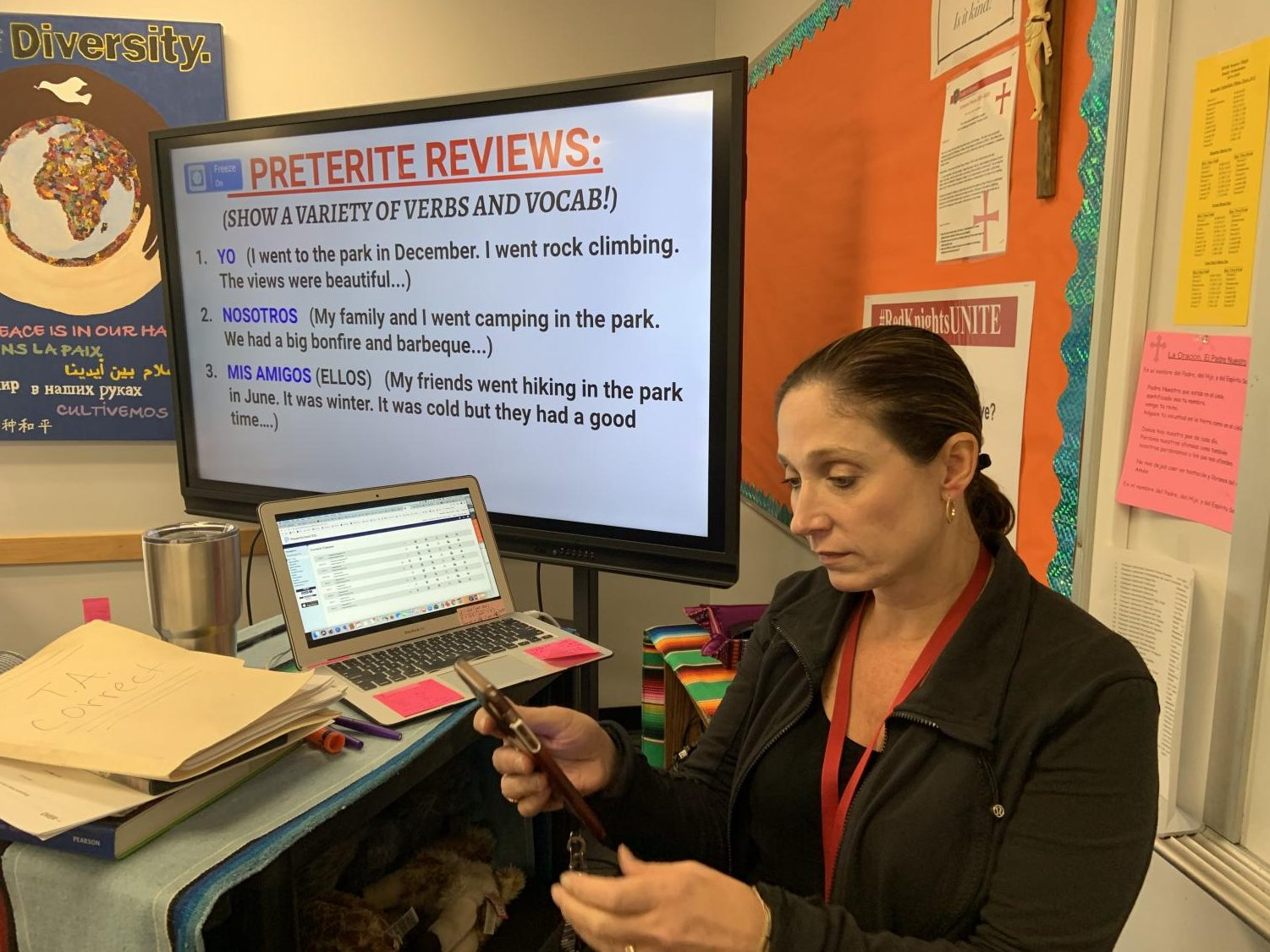 Profe Terrell keeps checking to see if one of her four TIkTok videos has gone viral.