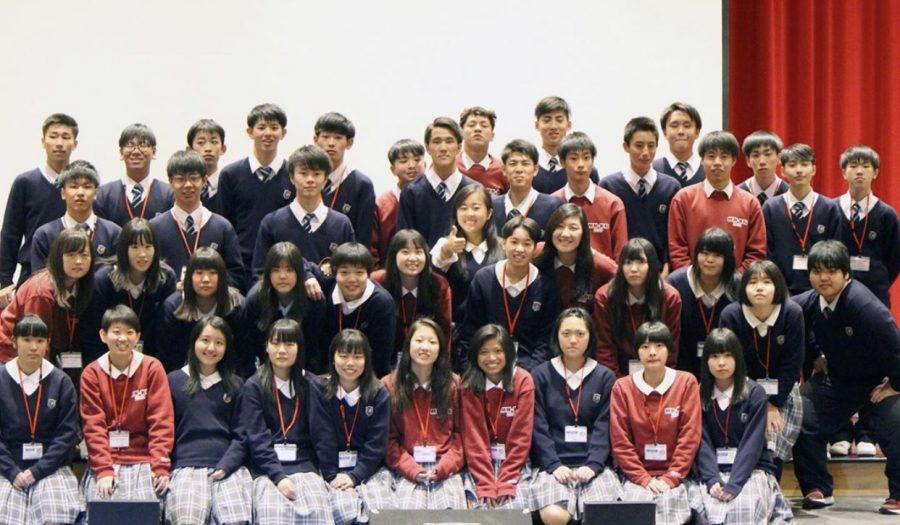 Students from Kaisei Gakuin school visit