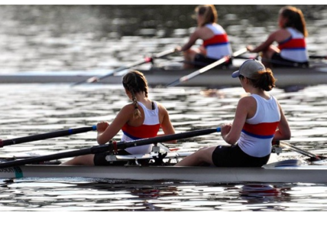 Sisters compete on rowing team