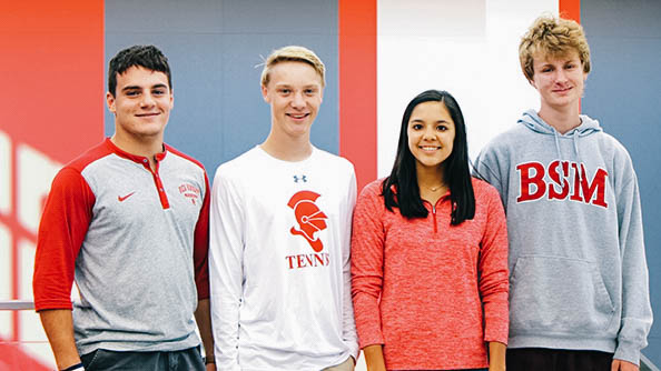Seniors Joe Marinaro, William Valley, Sarah Luong, and Harry Meshbesher  became National Merit Scholar Semifinalists after earning exceptional scores on the PSAT.