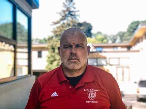After coaching at BSM two years ago, Mr. Paul O'Connor is back to coach the boys' varsity soccer team.