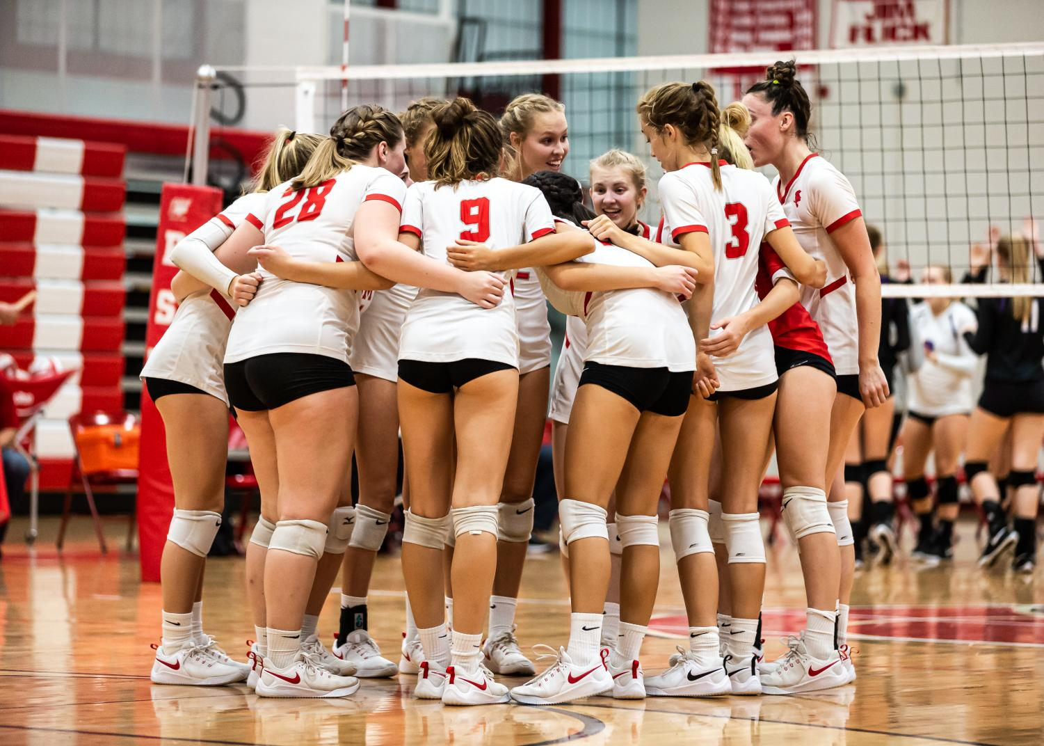 The girls' varsity volleyball team finished their season with a tough loss to St. Louis Park in Sections.