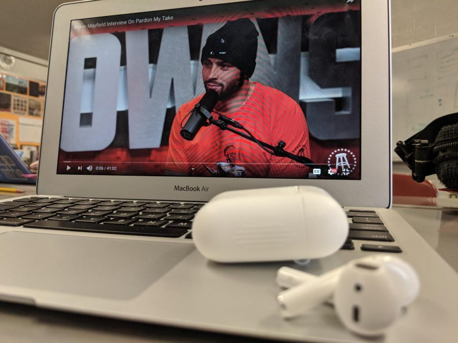 Baker+Mayfield+joins+the+Barstool+Podcast%3A+Pardon+My+Take.