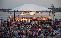 Students attend indoor and outdoor concerts