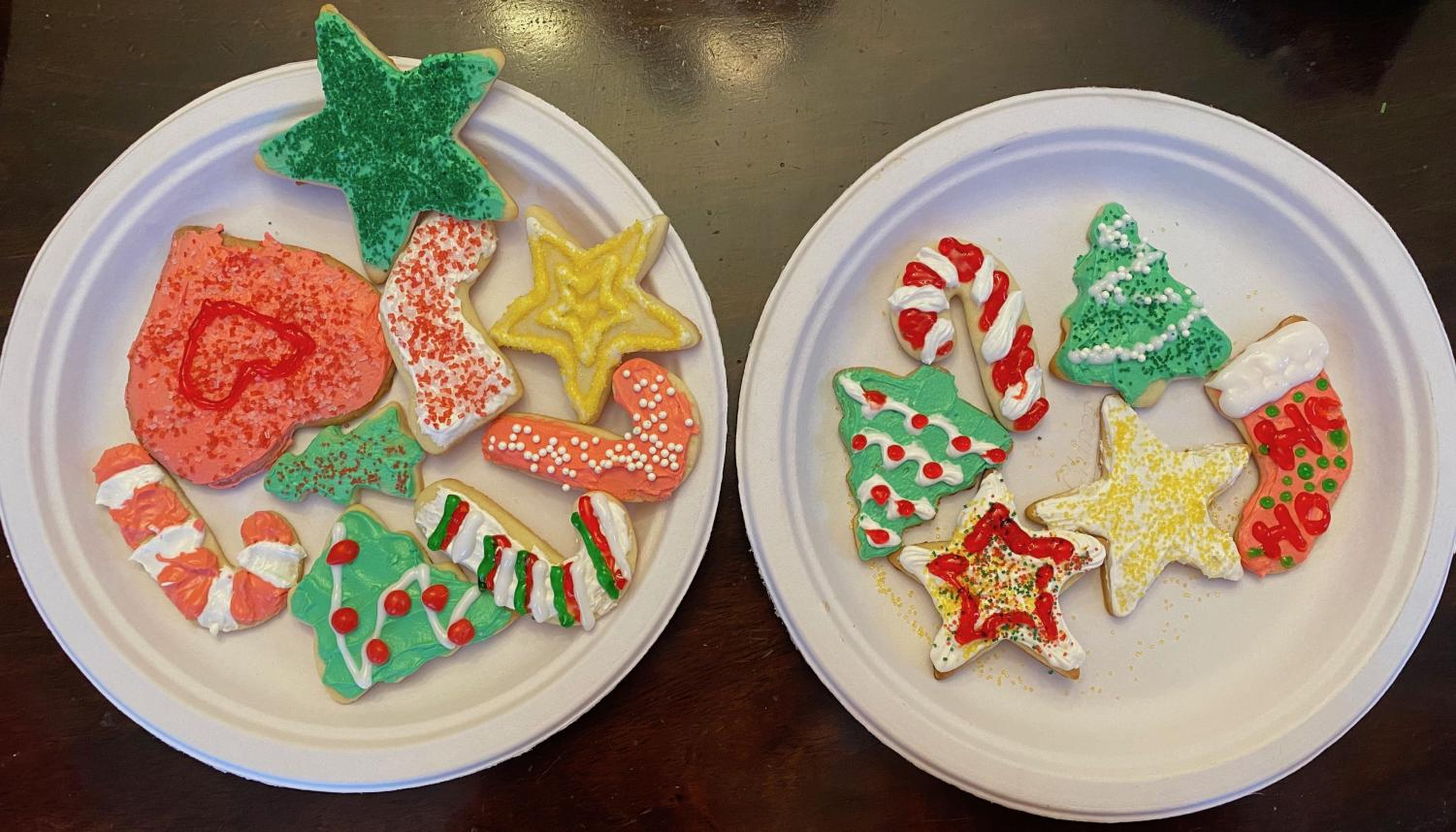 Cutout sugar cookies may not be the most delicious, but they certainly are the most festive.