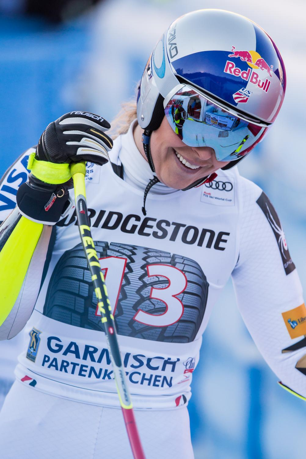 Lindsey Vonn is said to be the most award-winning female skier of all-time, so why do people care if she is smiling in a photo?