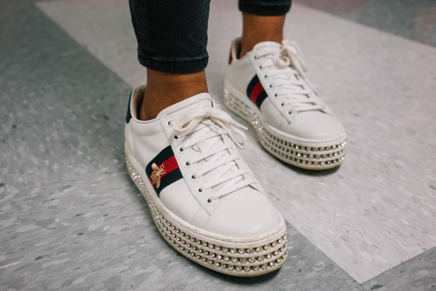 Brands are a part fashion meaning that Gucci can be on everything from a handbag to sneakers.