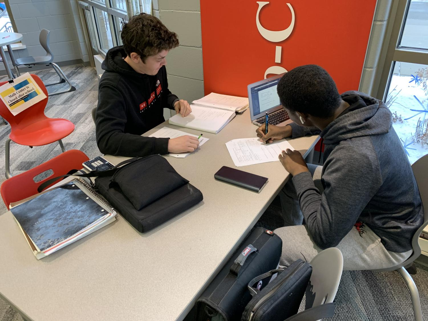 Students studied hard for first semester finals this week. Perhaps they would have been better off if these finals had been before break.