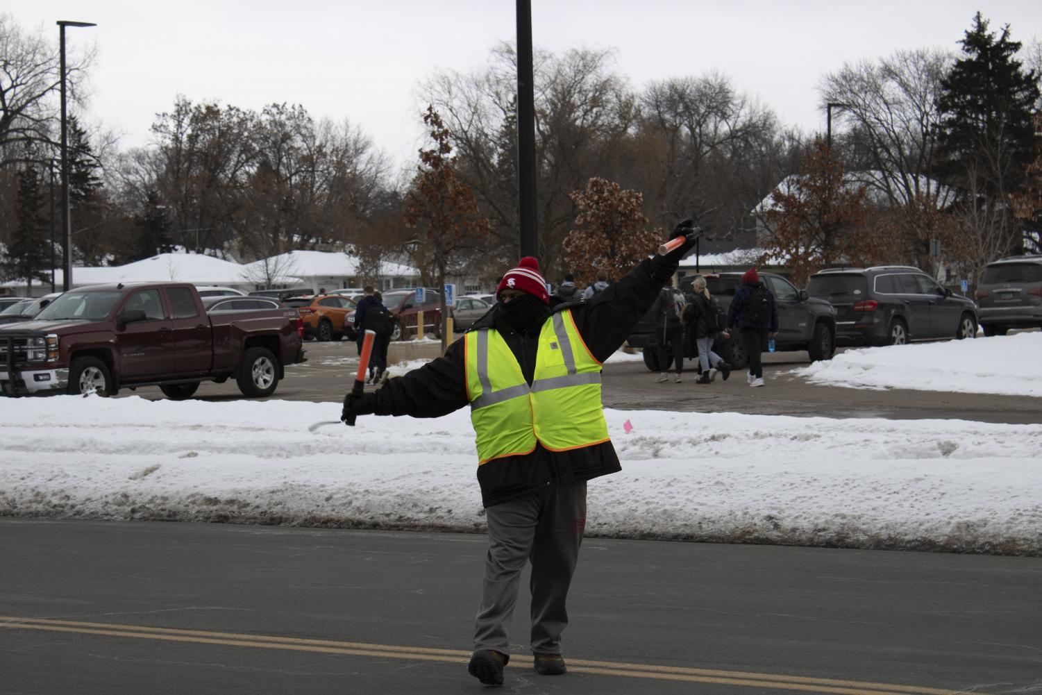 Joe Creer directs traffic almost everyday of the school year.