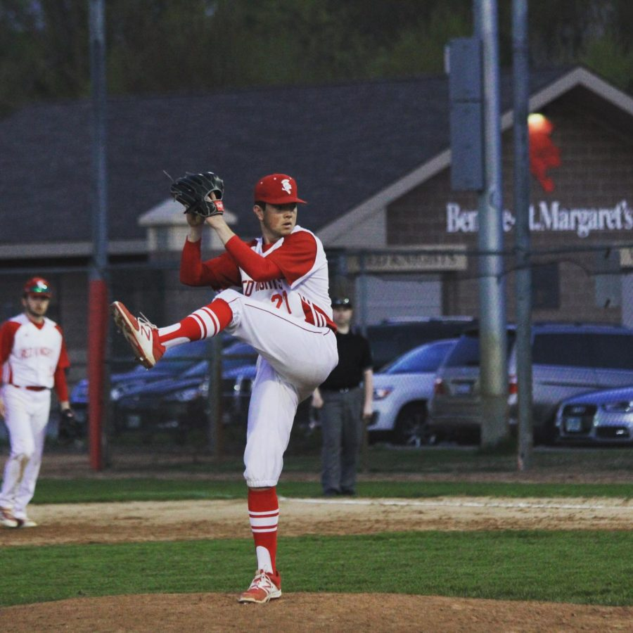 Blake Mahmood pitching in one of his last games of the 2019 season