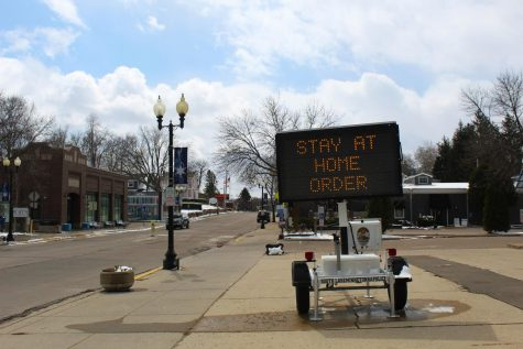 A sign in downtown Excelsior announces Minnesota