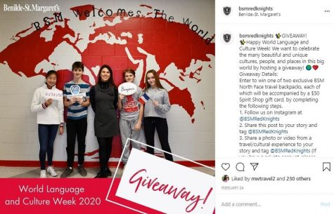 This past winter the Marketing team hosted the World Language Week giveaway.