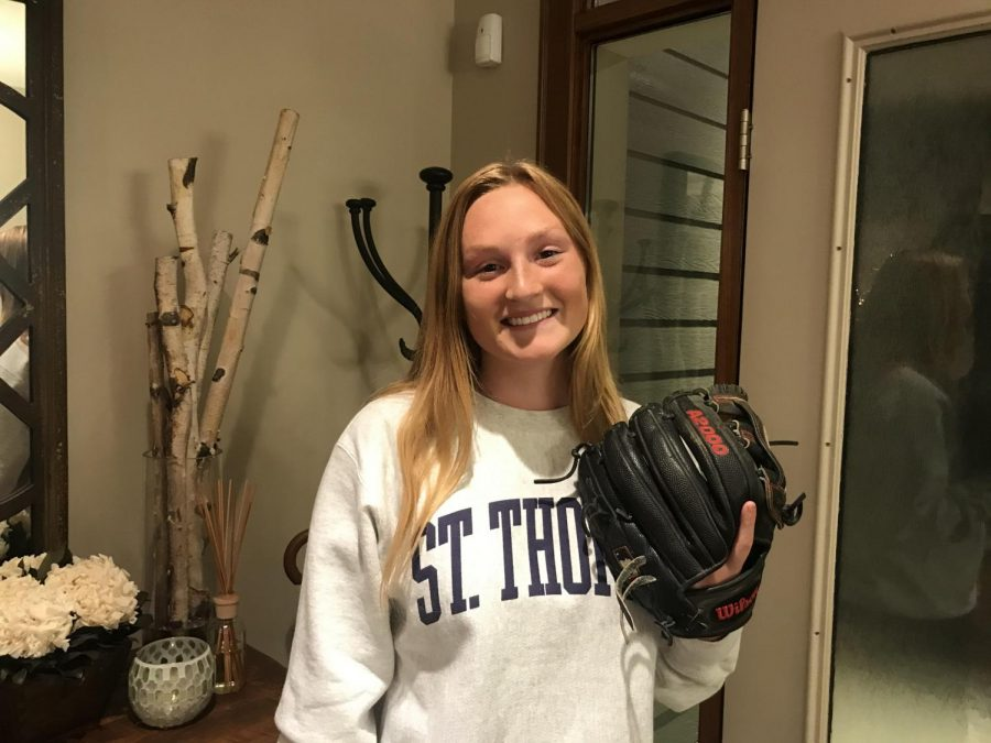 Sarah spent most of her time playing softball at BSM.