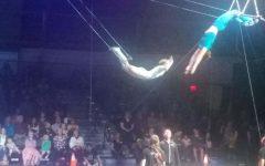 Student participates in the circus