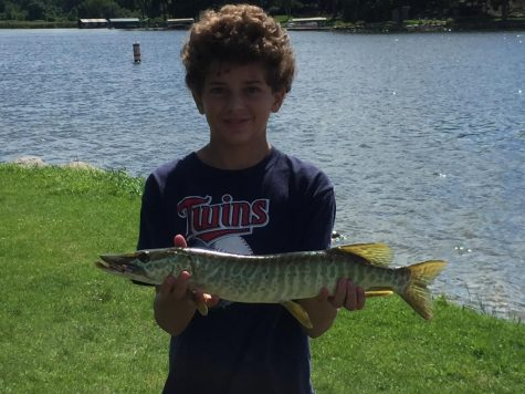 Tiger muskie caught in Bryant Lake.