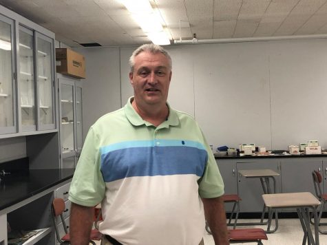 Science teacher Mr. David Reynolds is used to his  new home in the BSM junior high.