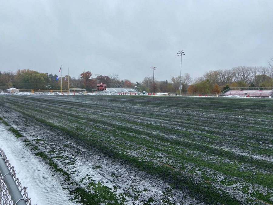 Section soccer games were moved to indoor locations because of severe snowfall.