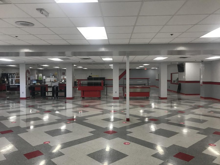 Senior Sam Decker looks at today's cafeteria and wishes for the days of the past.
