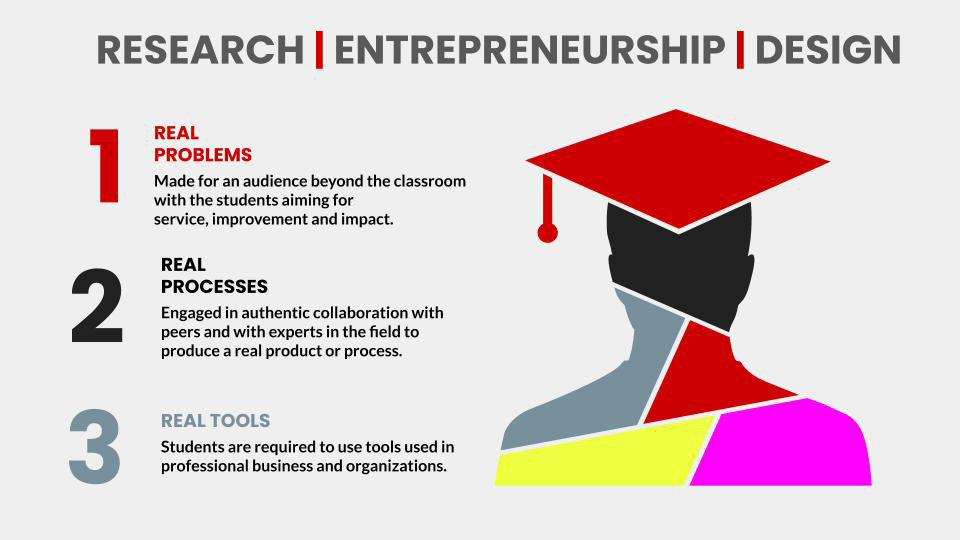 The RED program gives students the opportunity to create their own educational path.
