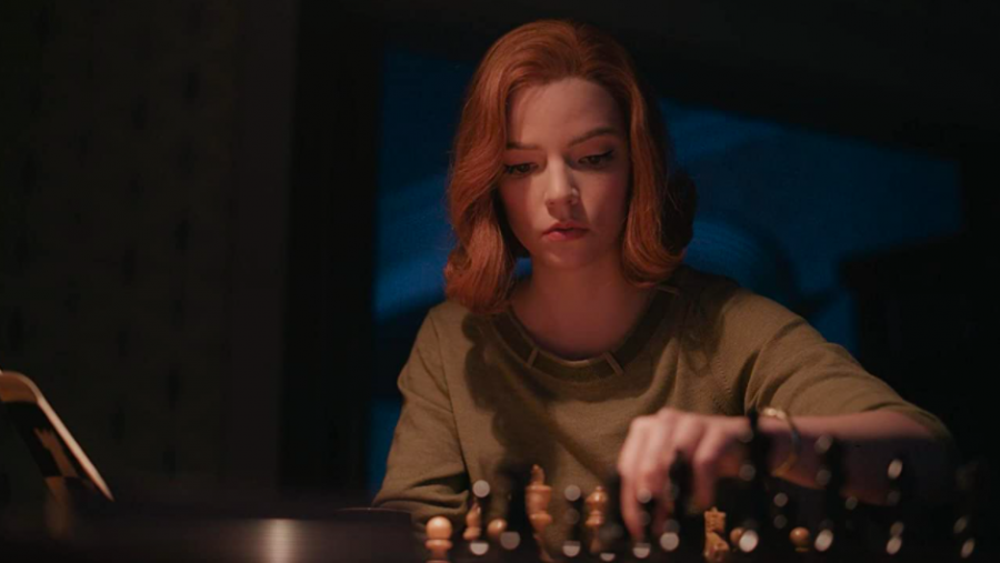 Beth Harmon (Anya Taylor-Joy) prepares for a chess tournament.