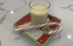 A cliche staged photo of eggnog attempts to fool the common folk.