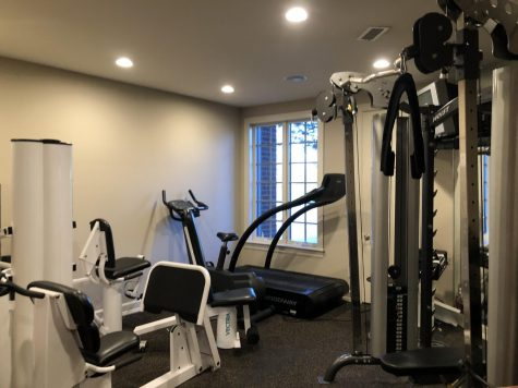 A home gym setup, the last option for many athletes who would like to exercise, sits unused.
