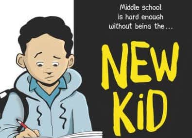 Faculty and staff engaged in discussions about New Kid, a graphic novel about the struggle of being a student of color in a predominantly white school.