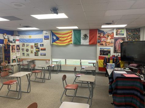 An empty Spanish room awaits students