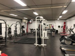 The outdated BSM weight room sits empty.