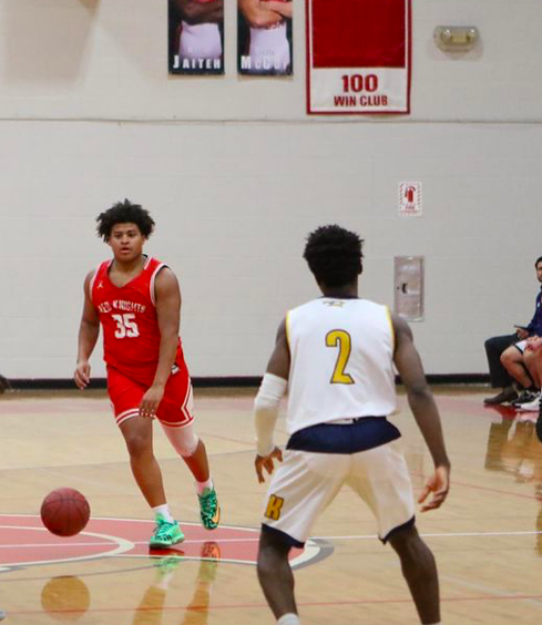 Senior Noah Allen in action during the 2019-2020 season.