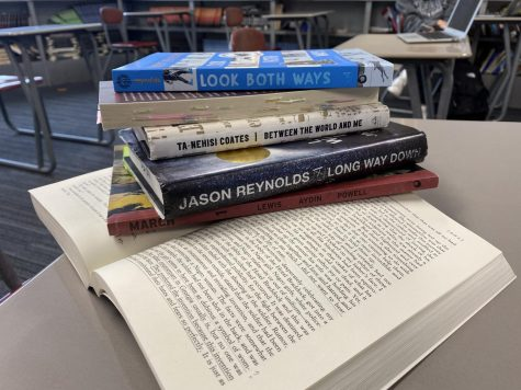 The group discusses a variety of fiction and nonfiction books, essay, and podcasts, as well as student writing.