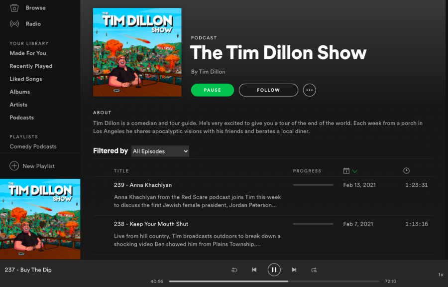 Tim+Dillon+publishes+a+weekly+podcast+that+ridicules+the+news%2C+himself%2C+and+everything+in+between.