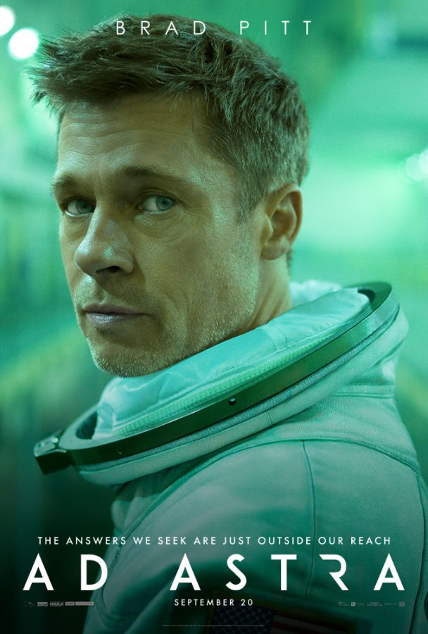 Brad Pitt on the movie poster for Ad Astra
