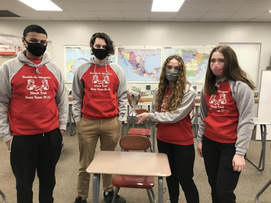 The BSM Mock Trial varsity students had a successful season despite COVID restrictions that resulted in online practices and meets.
