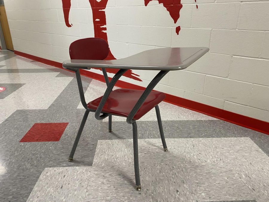 Some desks at BSM challenge student comfort and may even pose safety hazards.