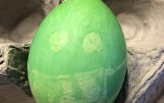 An Easter egg with a mask demonstrates the need for creative community building in these challenging times.