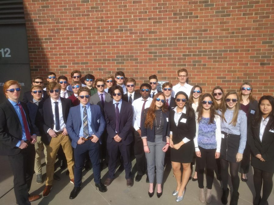Back in 2017-2018, the BPA Regional team posed outside the competition venue. This year, the competition was totally virtual.