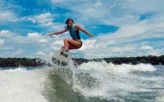 Mergen shreds a wave on Lake Minnetonka.