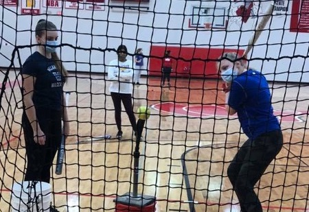 BSM softball players prepare for their 2021 season amidst new COVID-19 protocols.