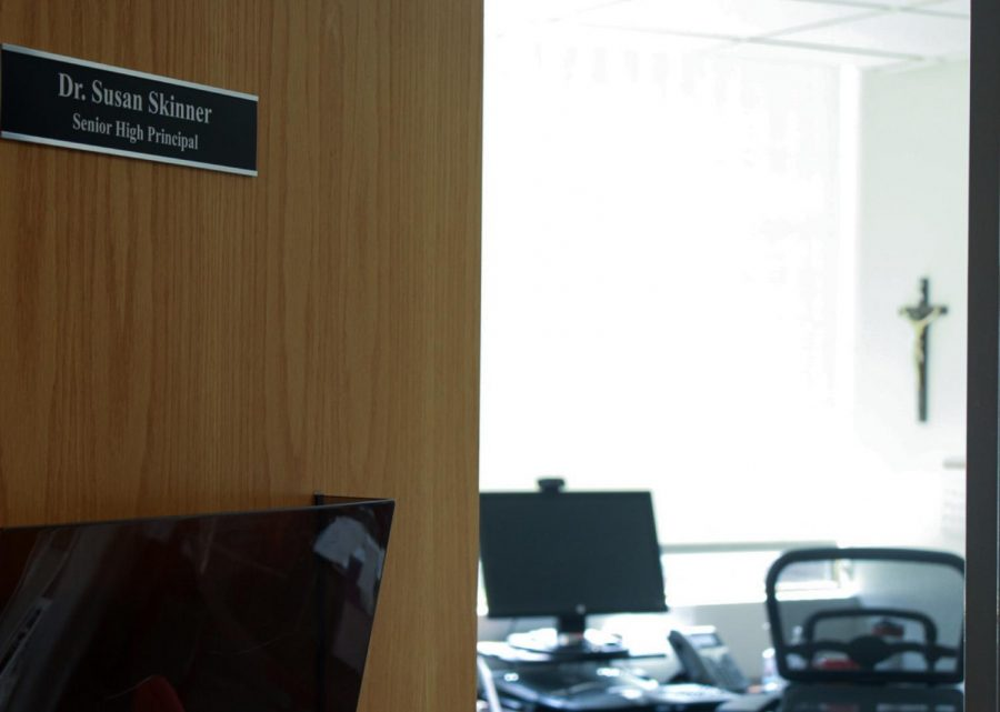 As Dr. Susan Skinner leaves, her empty office awaits the next BSM principal.