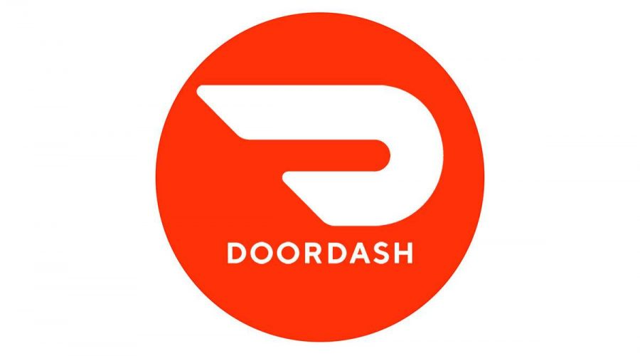The DoorDash logo emphasizes speed and convenience, but promises nothing about a low price.